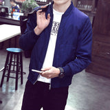 2016 New Arrival Spring Men's Jackets Solid Fashion Coats Male Casual Slim Stand Collar Jacket Men Outerdoor Overcoat  M-XXXXL
