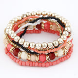 2016 Bohemian Summer Jewelry MutiLayer Beads Bracelets & Bangles for Women Elastic Strand Pulseras Mujer Femme Bijouterie