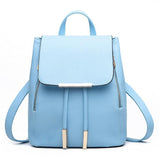 Women Backpack High Quality PU Leather Mochila Escolar School Bags For Teenagers Girls Top-handle Backpacks Herald Fashion