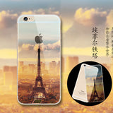 Fashion Thin Soft Silicone Mountain Back Cover Case For Apple iPhone SE 5s / 6 6s / Plus Transparent Back Cover Case For iPhone
