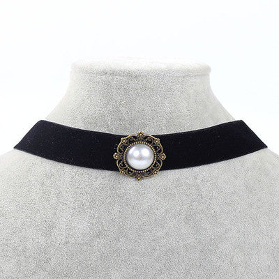New Charms Fashion Black Adjustable Leather Tattoo Choker Necklace for Girl Cool Collar Jewelry