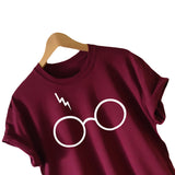 2016 New Womens Harry Potter Lightning Glasses Printed T-shirt Tees Harajuku Tshirt Plus Big Size S-xl