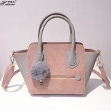 2016 Spring Smiley PU Leather Tote Bag Women Trapeze Fashion Designer Handbags High Quality Ladies Bags Vintage Crossbody Bags