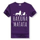 Cotton T-Shirts HAKUNA MATATA Men's Big Size T Shirts Short Sleeve Slim Fit Fashion Tops & Tees Male Clothing XXXL Summer 2016
