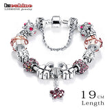 Bottom Price Promotion 2 Weeks LZESHINE Antique Silver Original Women Glass Charm Bracelet & Bangle Fit Charm Bracelet