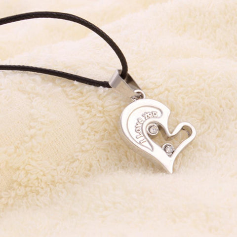 Men Women Lover Couple Necklace I Love You Heart Shape Pendant Necklaces Fashion Jewelry