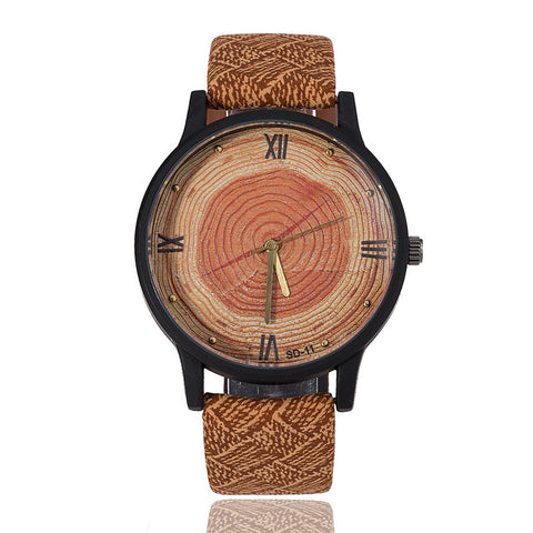 Casual BGG Brand Wood Retro Women Watches High Quality Vintage Leather Quartz Clock Simple Face Wooden Watch