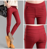 women pants capris plus size pencil pants fleece warm casual pants female trousers elastic Autumn Winter velvet thick leggings