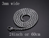 Meaeguet Fashion Stainless Steel Snake Chain 20/24inch Wholesale Chain Customized Jewelry Silver Plated Chains Necklace