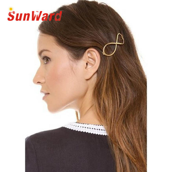 Stylish 1Pcs Women Infinity Gold Barrette Hairpin Hair Clip Hair accessories Headband Perfect Gift  for lady