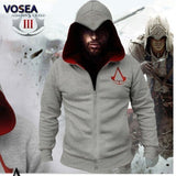 2016 Spring New Fashion Autumn Winter Assassins Creed Hoodie Sweatshirt Chadal Hombre Cosplay Costumes Cool Zipper Hoodies Men