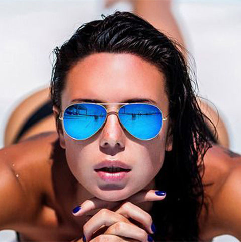 Brand Design Grade Aviator Sunglasses Women Men Mirror Sunglasses Points Sun Glasses For Women Female Male Ladies Sunglass 2016