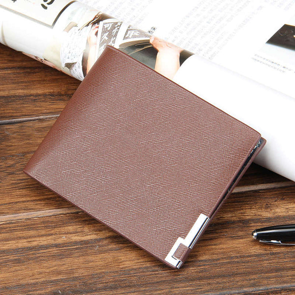 With zipper new 2016 men wallets famous brand Short  thin wallet male money purses with Flip up ID Window Short korean walet
