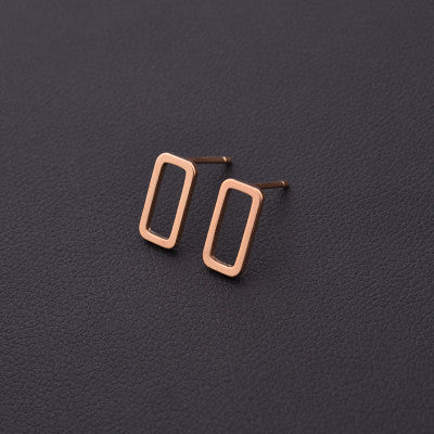 2 pair New Fashion Punk Simple T Bar Earrings For Women Ear Stud Earrings Fine Jewelry Geometry brincos bijoux 8112