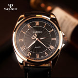 YAZOLE 2016 Mens watches Top Brand Luxury Mens Business Clock Male Quartz Wrist watch Quartz-watch relogio masculino Gold Black