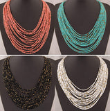 SPX5397 New Fashion Bohemian Bead Necklaces fashion necklaces for women 2014 collares accessories Body Jewelry