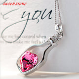 2016 Hot Women Lady Rhinestone Chain Crystal Necklace Pendant Jewerly Fashion Fashion Casual bijouterie collier choker collares