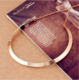 Fashion Making simple shape metal texture collar necklace (narrow version of gold) Free Shipping 2016 New necklace Jewelry X107