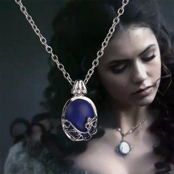 The Vampire Diaries necklace vintage Katherine pendant movie jewelry cosplay for women wholesale