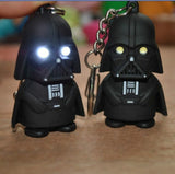 2016 Star Wars The Force Awakens LED Flashlight keychain Darth Vader Anakin Skywalker figure Key Chain Black pawn keyring 1PCS