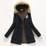 Winter Coat Women 2016 New Parka Casual Outwear Military Hooded Thickening Cotton Coat Winter Jacket Fur Coats Women Clothes D21