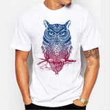 Newest 2016 men's fashion short sleeve night warrior owl printed t-shirts  funny tee shirts Hipster O-neck popular tops