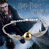 New Hot !! Fashion Fine Movies Jewelry Summer Style Harry Potter Deathly Hallows Angel wings Bracelets & Bangles For Women B-106