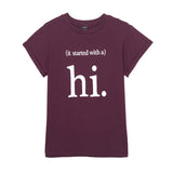 Fashion Ladies' stylish letter print T shirt cute black & white hi short sleeve shirts casual brand design tops DT225