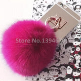 2016 Fashion Metal Rope silver Mirror TPU Tassel Back Cover rabbit fur ball pompom For Samsung Galaxy S3 S4 S5 S6 S7 Edge Plus