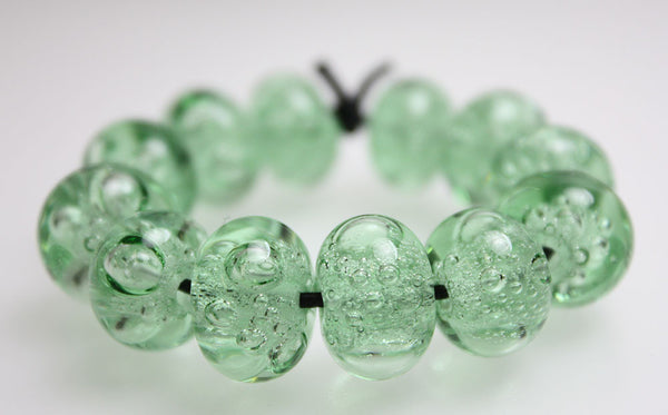 Green Bubble Beads
