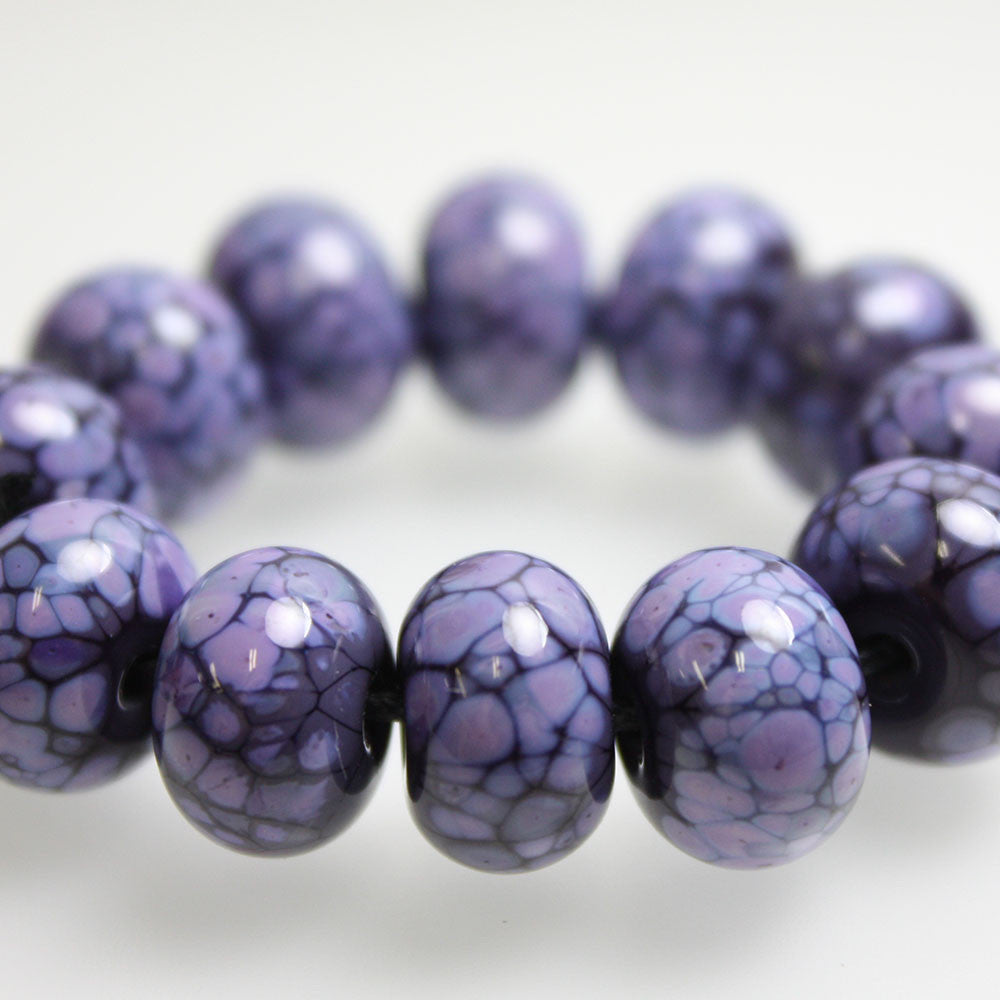 Purple on Purple Lampwork Beads
