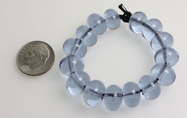 Blue Lampwork Beads~Pale Blue