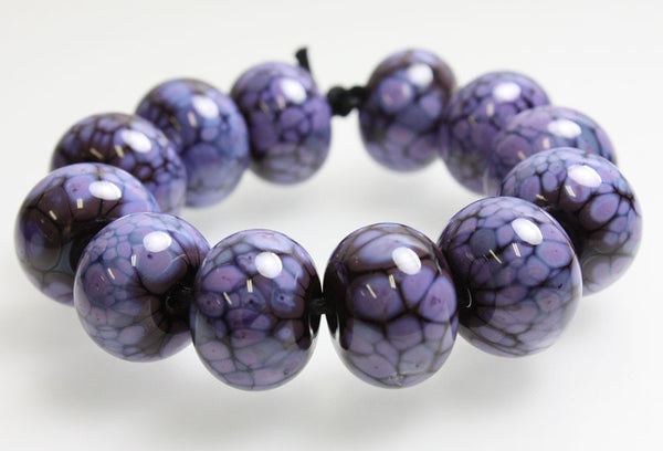 Purple and Plum Glass Lampwork Beads