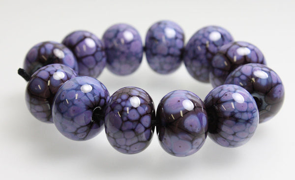 Handmade Purple and Plum Lampwork Beads