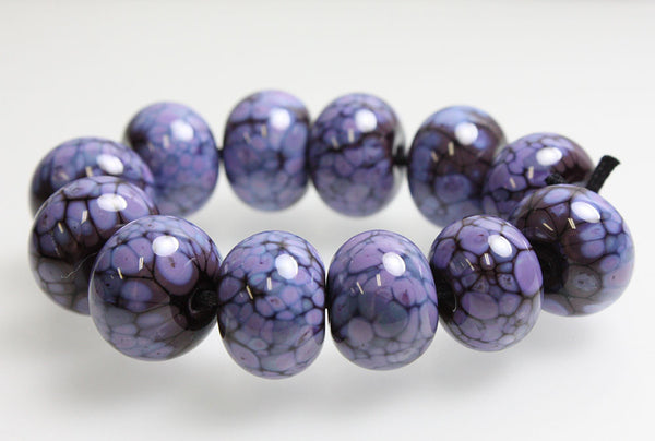 Purple and Plum Lampwork Beads