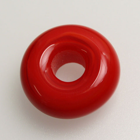 Red Large Hole Lampwork Bead