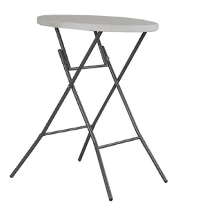Bar Table High Round Bistro Table MDF Foldable White Pub High Table Cocktail