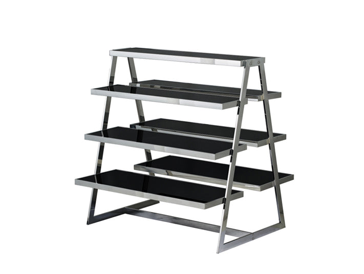 Well-liked New Chrome Black Glass Double Sided Shelves Retail Shop Display  DW58