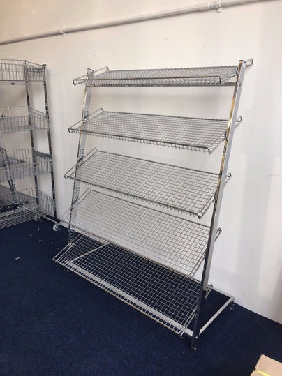 NEW 40 SIDE 40 TIER SHELF FREE STANDING SHOE STAND UNIT FOR RETAIL Best Retail Shoe Display Stands Uk