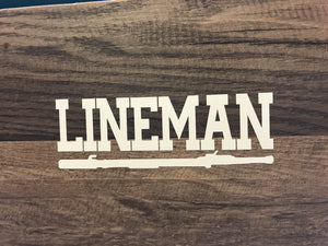 Lineman W/Hotstick Decal