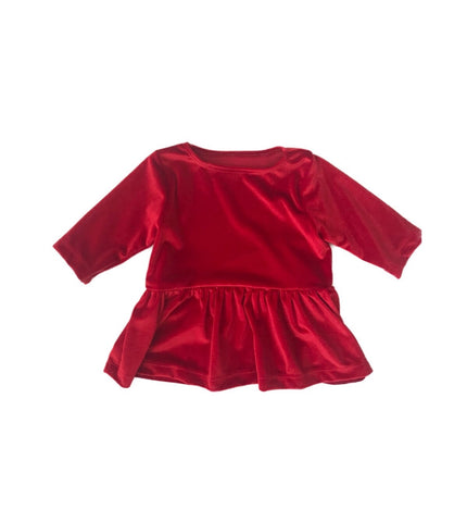 Red Velvet Peplum