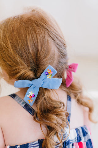 Sequin Bow // Blue