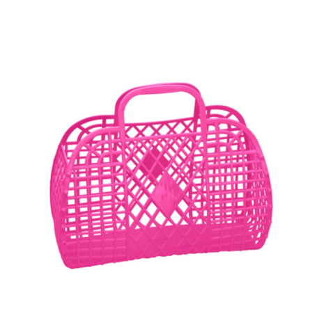 Sun Jellies Retro Basket - Hot Pink Large