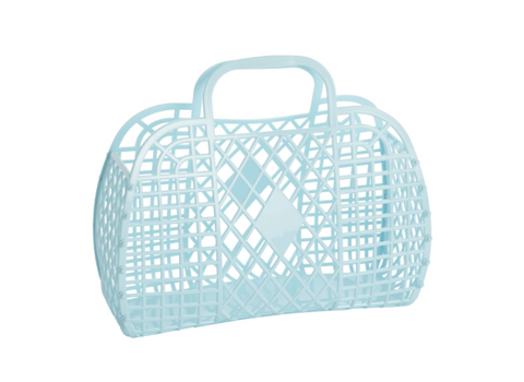 Sun Jellies Retro Basket - Blue Large