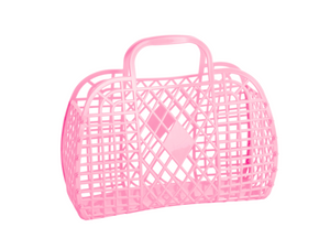 Sun Jellies Retro Basket - Light Pink Large
