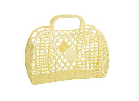 Sun Jellies Retro Basket - Light Yellow Large