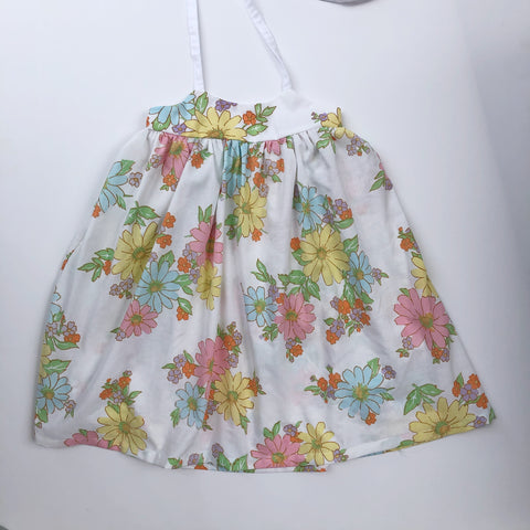 Elle Dress - Vintage Flower Power  soft colors & white