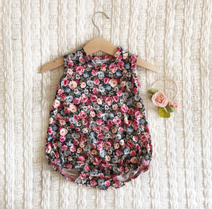 Fields of Flowers Bubble Romper