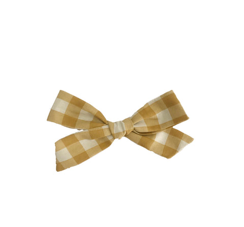 Wheat Gingham Bow