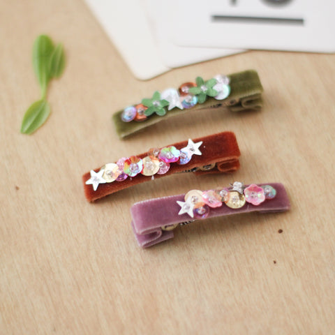 Fall Sequin Hair Clip // Choose One
